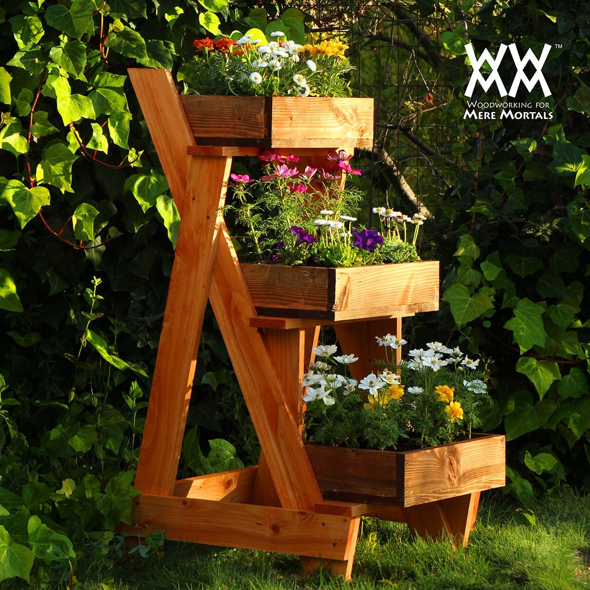 Three Tier Planter: These 25 Woodworking Projects For The Garden will help you make some money.
