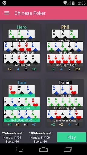 Chinese Poker  captures d'écran 1