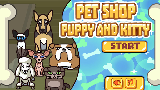 宠物店里的小狗和小猫