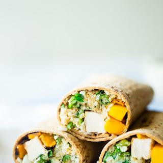 Grilled Mango Chicken Cauliflower Rice Wrap.