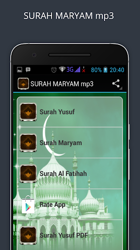 Download Surah maryam Mp3 Google Play softwares - agOLKgG4Fxui   mobile9