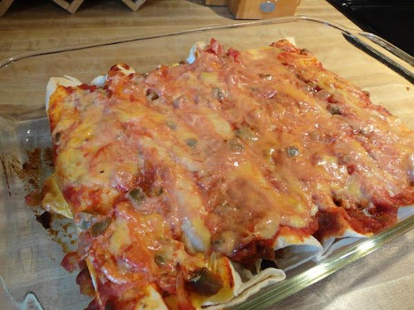 Beef And Black Bean Enchiladas Recipe