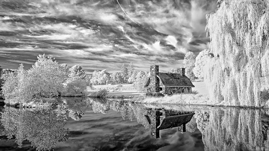 ShakeShack by Rapid Response - Landscapes Prairies, Meadows & Fields ( #shack, infrared, #black and white )
