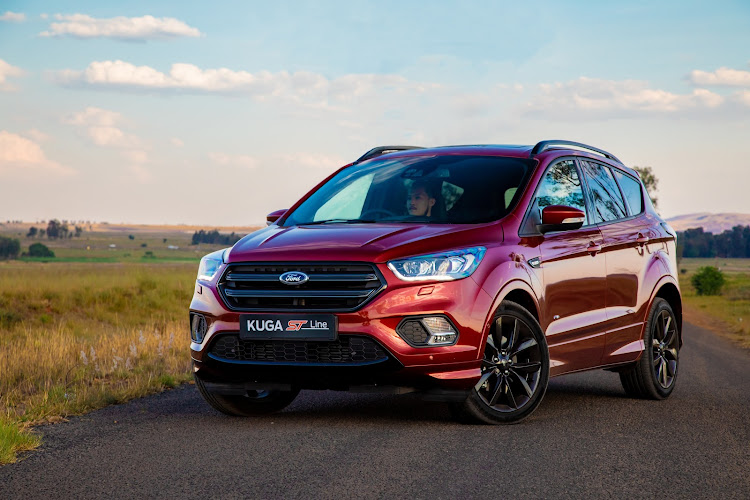 With its 177kW engine the Kuga ST-Line delivers almost hot-hatch performance. Picture: SUPPLIED