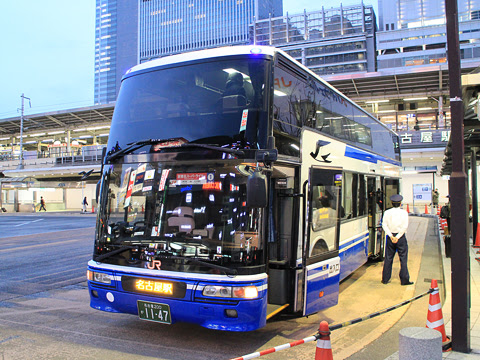 JR東海バス「新東名スーパーライナー9号」 747-15958 名古屋駅新幹線口到着