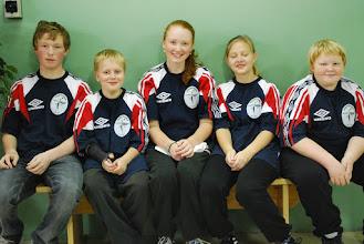 Photo: Guldvinnande sydsvenska blå. Anders Brandt, Elias Zachariassen, Elisabeth Brandt, Jasmin Hansson och Jonathan Karlsson-Rosengren. FOTO: Patric Fransson