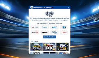 Screenshot of FOX Sports GO
