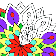 Adult Color by Number Book - Paint Mandala Pages APK for Bluestacks