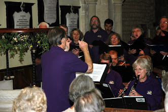 Photo: Called to be Saints performing their repertoire of West Gallery Music in Priston Church.© Owain Jones 2008