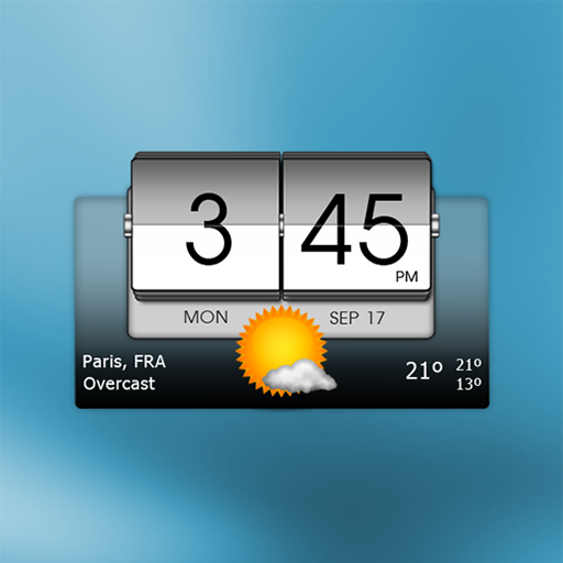3D Flip Clock & Weather