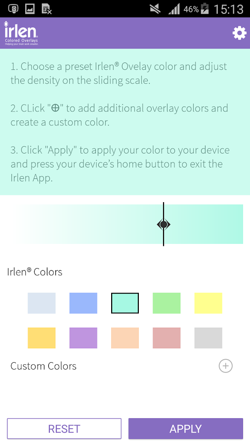 Irlen® Colored Overlays- screenshot