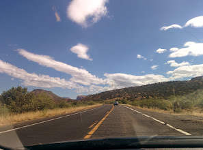 Photo: Driving to Sedona