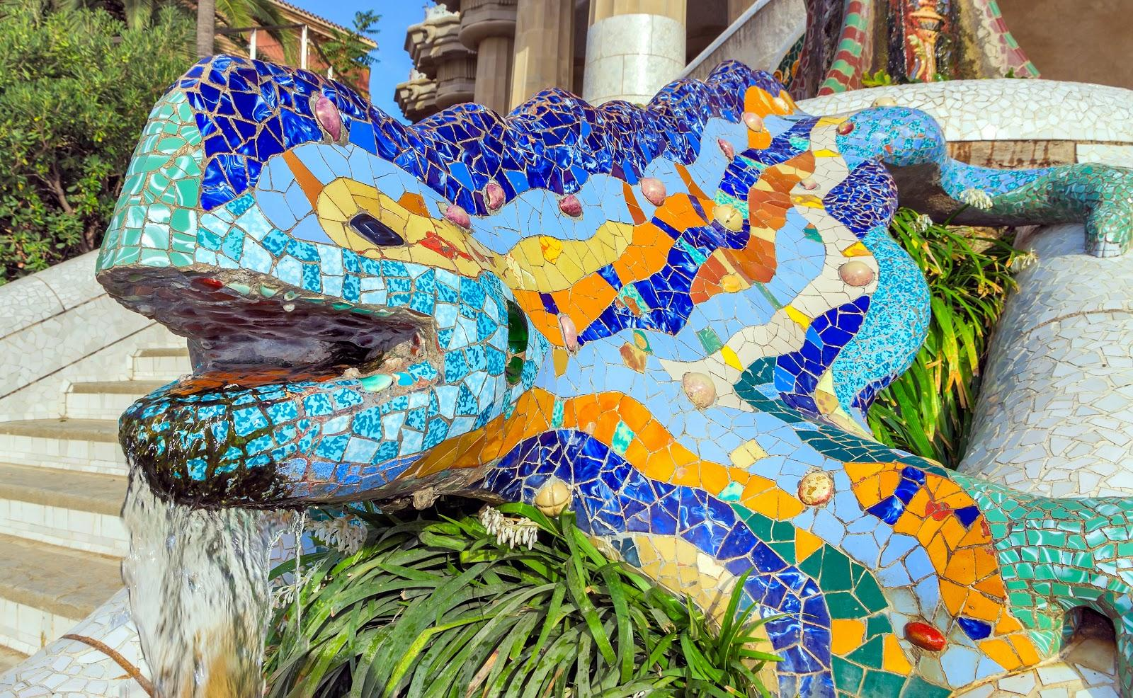El Drac, the mosaic-covered lizard sculpture tops most people's list of things to see when visiting Park Guell.