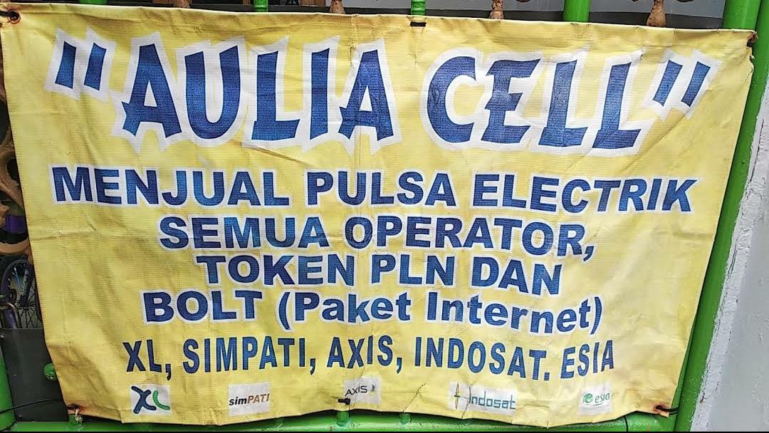 Aulia Cell Alavan Jual Pulsa Elektrik Token Listrik Toko Elektronik