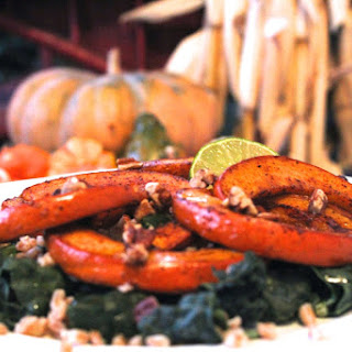 Roasted Pumpkin Kale and Farro Salad