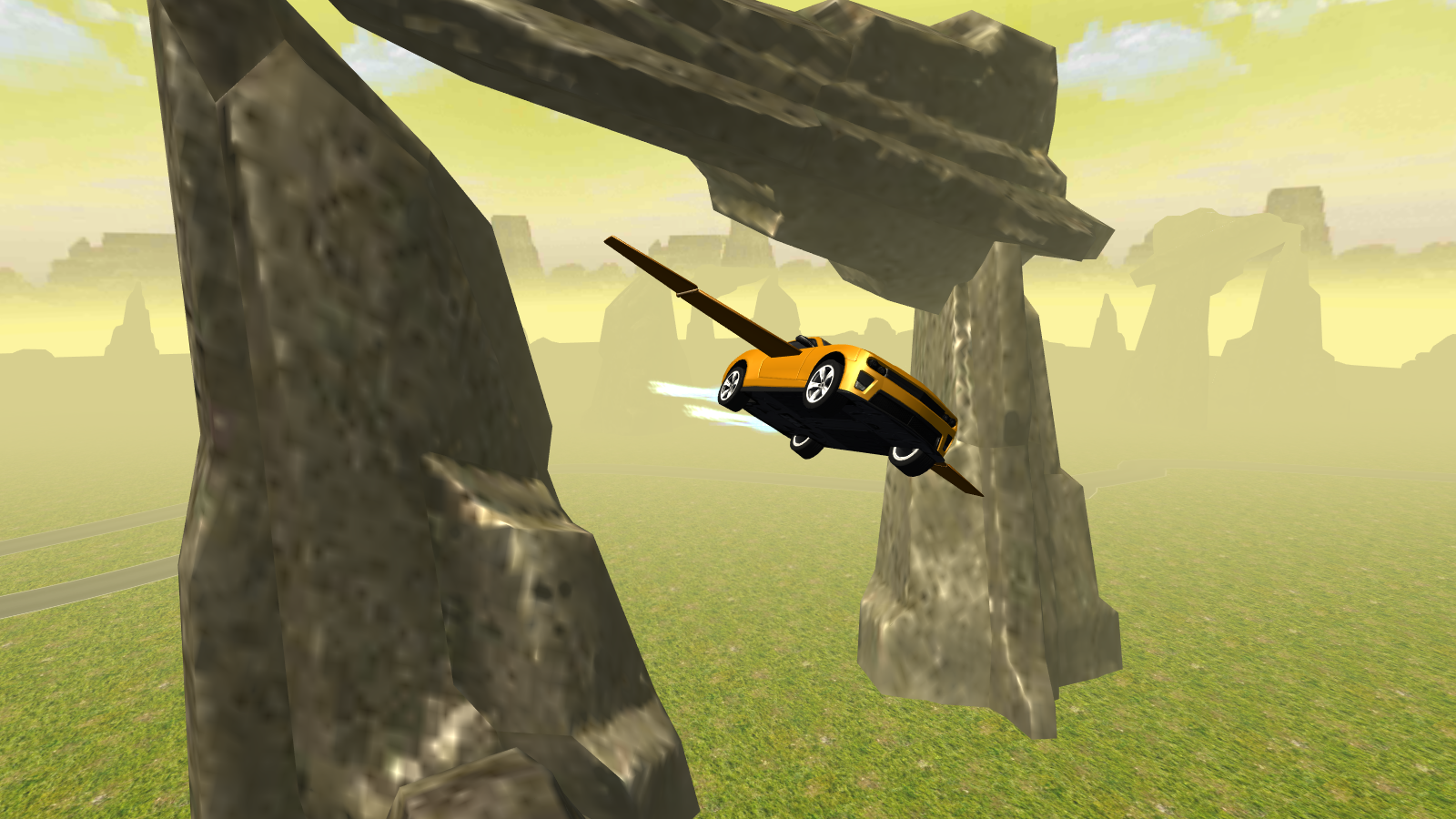 Flying Muscle Car Simulator 3D- screenshot