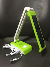 Photo: Solar-charging Emergency Table Lamp(with USB Ports for mobile charging)