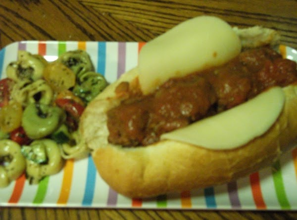 Meatballs: I take out the meatballs and one cup of sauce put it in...
