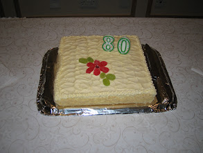 Photo: Kim's dad's 80th birthday cake. And very fine it was too!