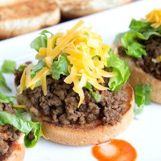 Taco Burger Sliders