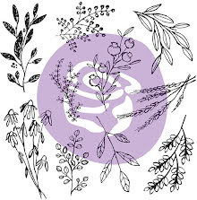 Prima Iron Orchid Designs Decor Clear Stamps 12X12 - Sweet Sprigs