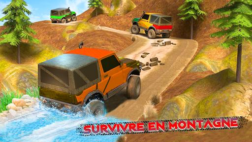 Télécharger gratuit Offroad Jeep Driving & Racing cascades APK MOD 2