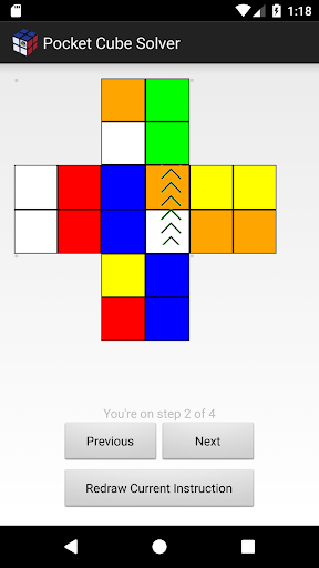 Pocket 2X2 Rubik's Cube Solver  screenshots 5