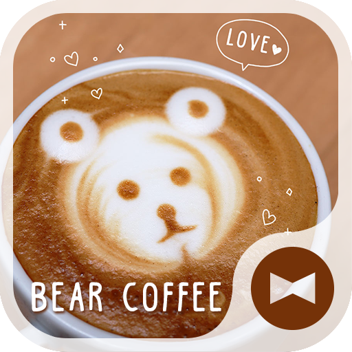 Cute Wallpaper Bear Coffee Icon