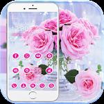Pink Rose Love Theme Icon