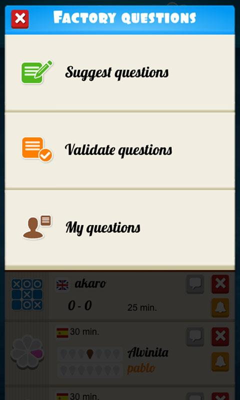 Atriviate (Online Trivia)- screenshot