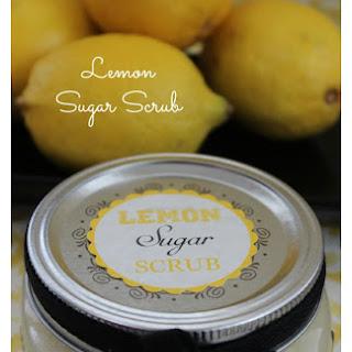 Easy Lemon Sugar Scrub.