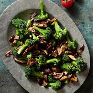 Broccoli With Balsamic Mushrooms.