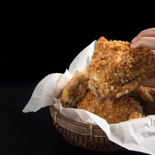 Crispy Pressure Cooker with Homemade Chicken Gravy.