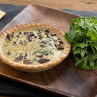Mushroom & Swiss Chard Quiches with Gruyere Cheese & Arugula Salad