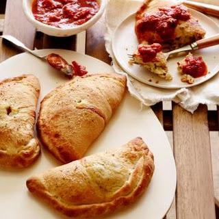Three Cheese and Artichoke Calzones