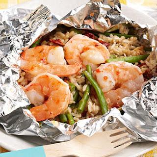 Backyard Shrimp & Rice Bundles
