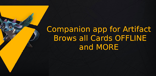 Companion app for artifact the card game made by valve based on the Moba Dota2
