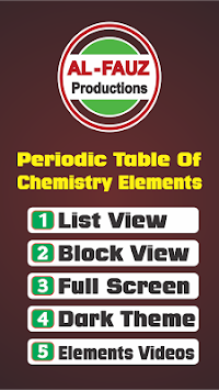 Download periodic table chemistry elements 2018 apk latest version periodic table chemistry elements 2018 poster urtaz Image collections