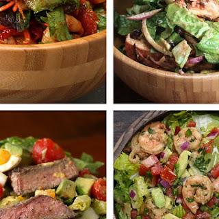 Roasted Shrimp And Veggie Salad.
