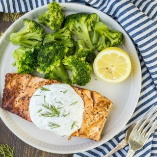 Greek Yogurt Ranch Salmon.