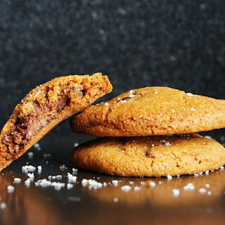 Nutella-Stuffed Brown Butter and Sea Salt Chocolate Chip Cookies