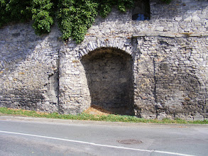 """Photo: An example of a """"false door"""" in the town's fortifications."""