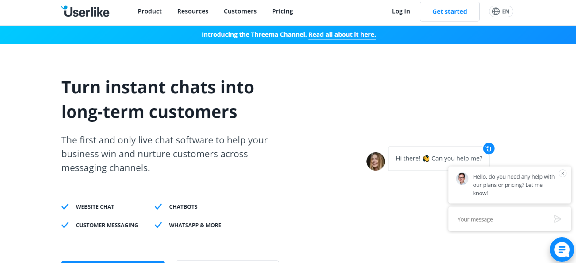 userlike live chat