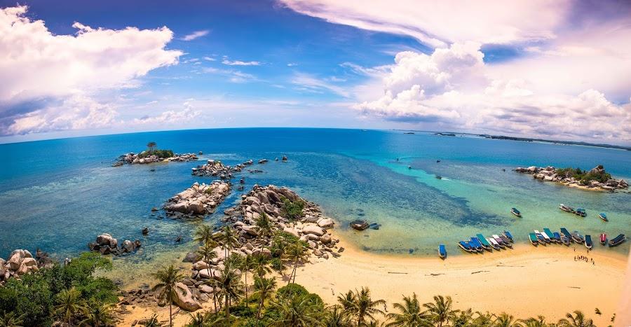 Rocky Beach at Lengkuas Island by Alexander Nainggolan - Landscapes Beaches ( nature, rocky beach, indonesia, babel, ocean, landscape, lengkuas island, bangka belitung,  )