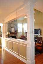 Photo: (After) Delaney's Breakfast room square pillars and header Schwenksville, PA