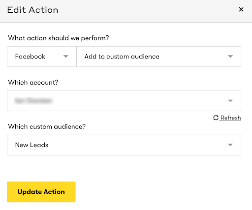 Drip and Facebook Custom Audiences Integration Screenshot