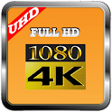 MP4/FLV UHD:4k video Player icon