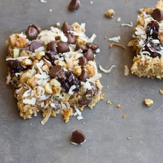 Soft Baked Oatmeal Chocolate Chip Bars.