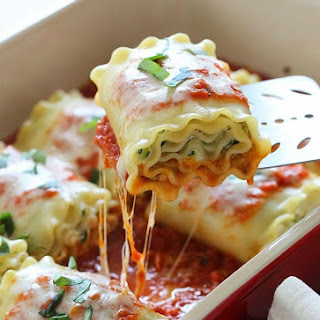 Three Cheese Zucchini Stuffed Lasagna Rolls
