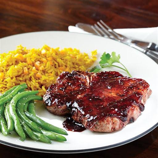 Pork Chops with Raspberry Balsamic Glaze